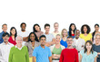 Large group of Multi Ethnic people Variation Concept