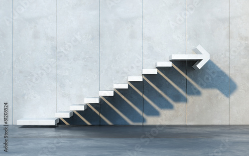 canvas print picture stairs going  upward