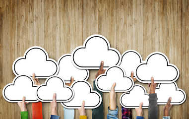 Cloud Diverse Diversity Ethnic Ethnicity Symbol Icon Unity Conce