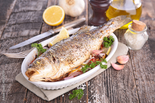 grilled fish - 81208714