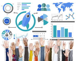 Start up Support Volunteer Innovation Global Business Concept