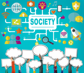 Society Community Global Togetherness Connecting Internet Concep