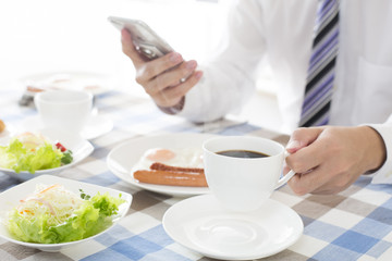 ビジネスマン朝食