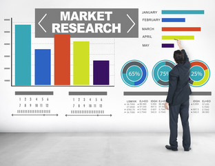 Market Research Percentage Research Marketing Strategy Concept