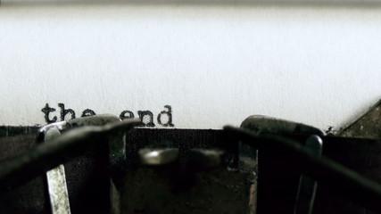 The End Typed Vintage Typewriter