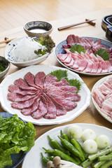 焼き肉の準備