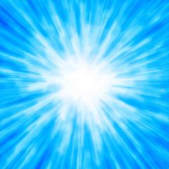 Bright light blue stars. Starburst.