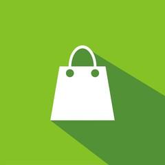Icono bolsa compra verde sombra