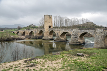 Medieval bridge of Frias in Burgos
