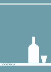 vodka bottle glass deign menu background