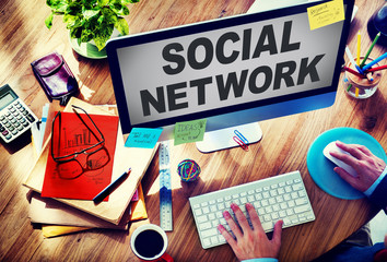 Social Network Internet Society Connecting Social Media Concept