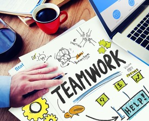 Teamwork Team Together Collaboration Working Workplace Concept