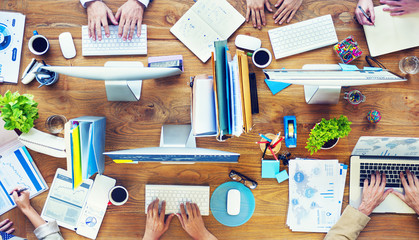 Group of Business People Busy Working Office Concept