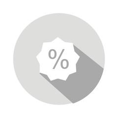 Icono descuento gris botón sombra