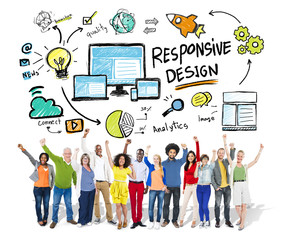 Responsive Design Internet Web Online People Celebration Concept