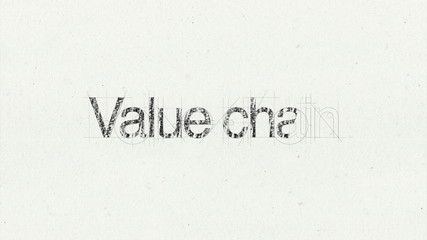 Text animation 'Value chain' for presentations(included Alpha)