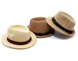 Three Summer panama straw hat