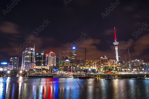 Foto op Canvas Nieuw Zeeland Auckland, New Zealand city at night