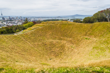 Auckland, New Zealand from Mount Eden Volcano