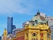 Flinders station in Melbourne in Victoria in Australia - 81213318