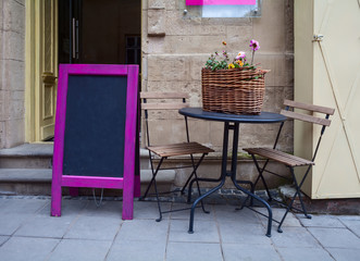 Street cafe table