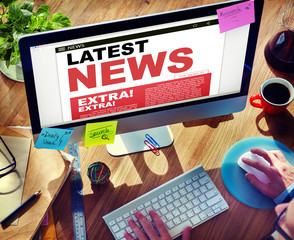 Digital Online Update Latest News Concept