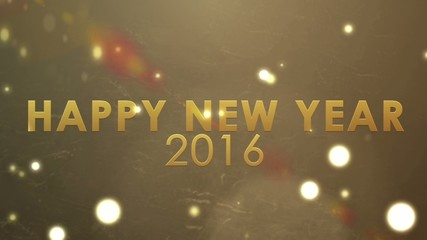 golden explosion sparkling, holiday happy new year 2016