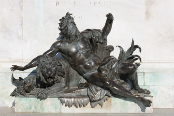 Allegorical statue of the Rhone river