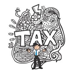 Tax and man doodle
