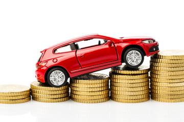 Auto mit Münzen