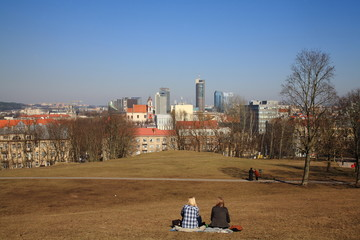Vilnius,the view from the hill Tauras