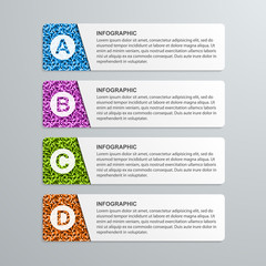 Abstract options paper infographics template.