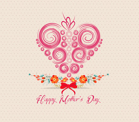 heart ornament background. Mothers day greeting card