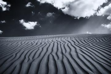Extensive View of Desert Under a Dramatic Sky