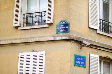 Paris classic blue street sign