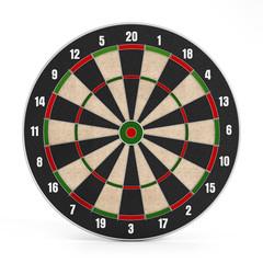 Isolated dartboard