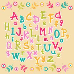 cute kids alphabet