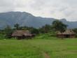 Leinwandbild Motiv African Village Landscape