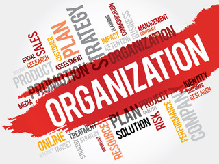 Word Cloud with Organization related tags