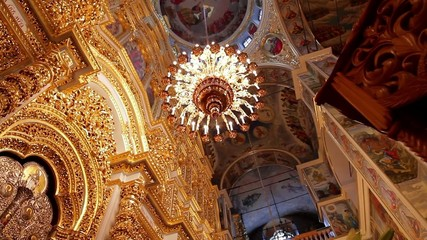 Luxurious interior of the cathedral.