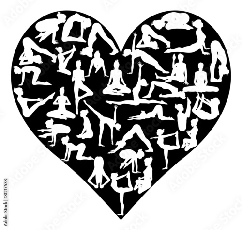 Yoga pilates heart - 81217538
