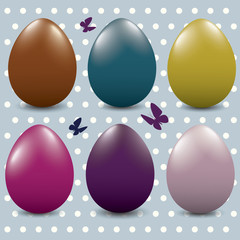 Different color Easter eggs