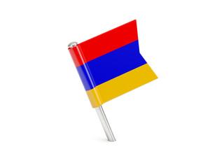 Flag pin of armenia