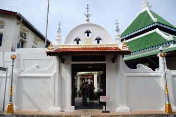 Entrance of Kampung Kling Mosque in Malacca, Malaysia