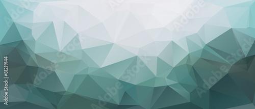 Leinwanddruck Bild Polygon Panorama