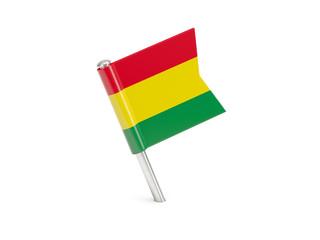 Flag pin of bolivia