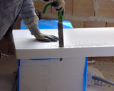 Worker size to fit a polystyrene panel with motion blure - 81219971