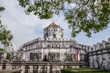 Phra Sumen Fort, ancient fort in Bangkok Thailand