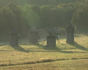 Windmills in the sun