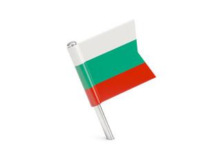 Flag pin of bulgaria